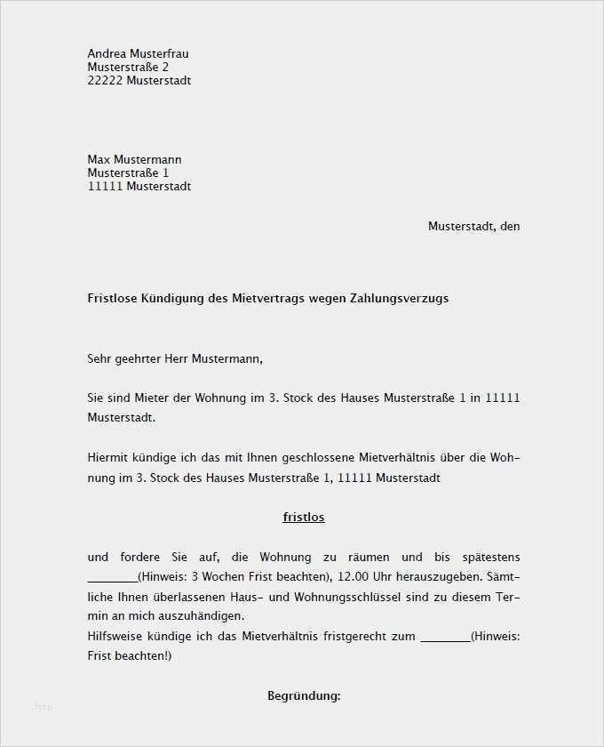 Gut Kostenlose Vorlage Untermietvertrag Galerie In 2020 Vorlage Kundigung Wohnung Vorlagen Kundigung