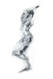 Abstract Human Body Drawing Movement Dancer Iv By