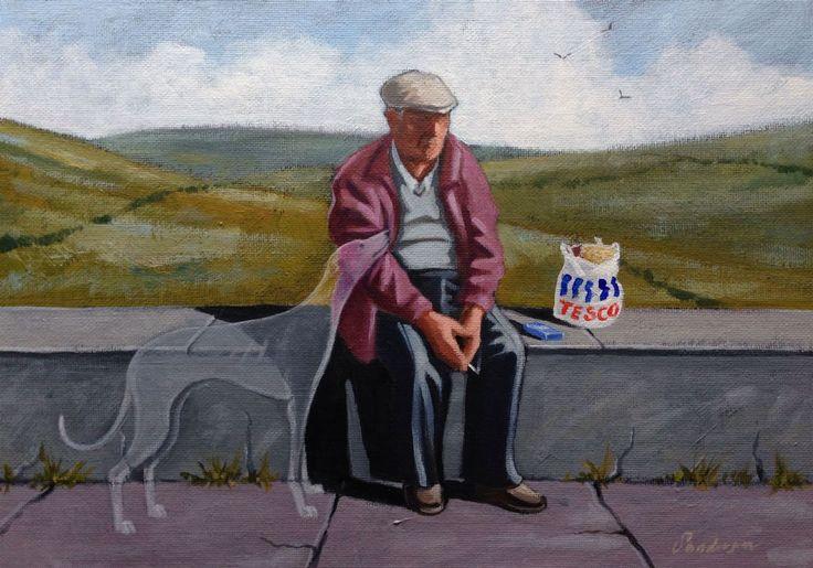 """""""I wonder if the ol'girl misses me as much ......""""  -  Steve Sanderson Blackpool Artist"""