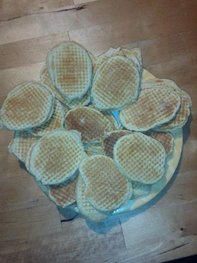 Gaufres fourrées à la cassonade - Recette de cuisine Marmiton : une recette