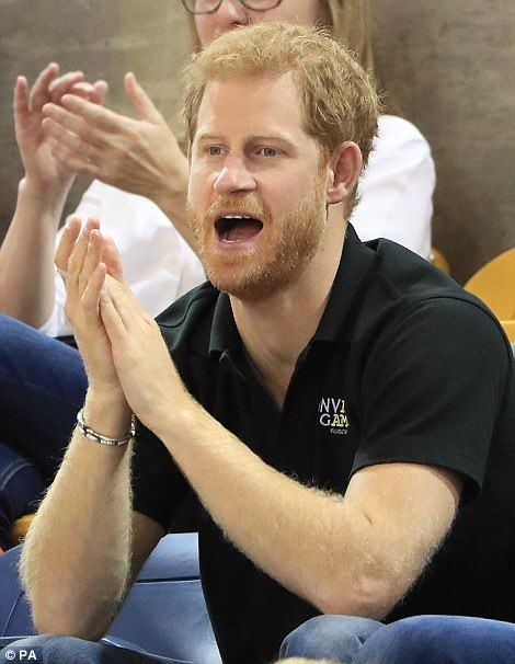 The royal seemed as much of a fan of anybody else as he clapped and cheered at the wheelch...