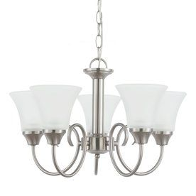 Sea Gull Lighting Holman 20 In 5 Light Country Cottage Etched Glass Shaded Chandelier