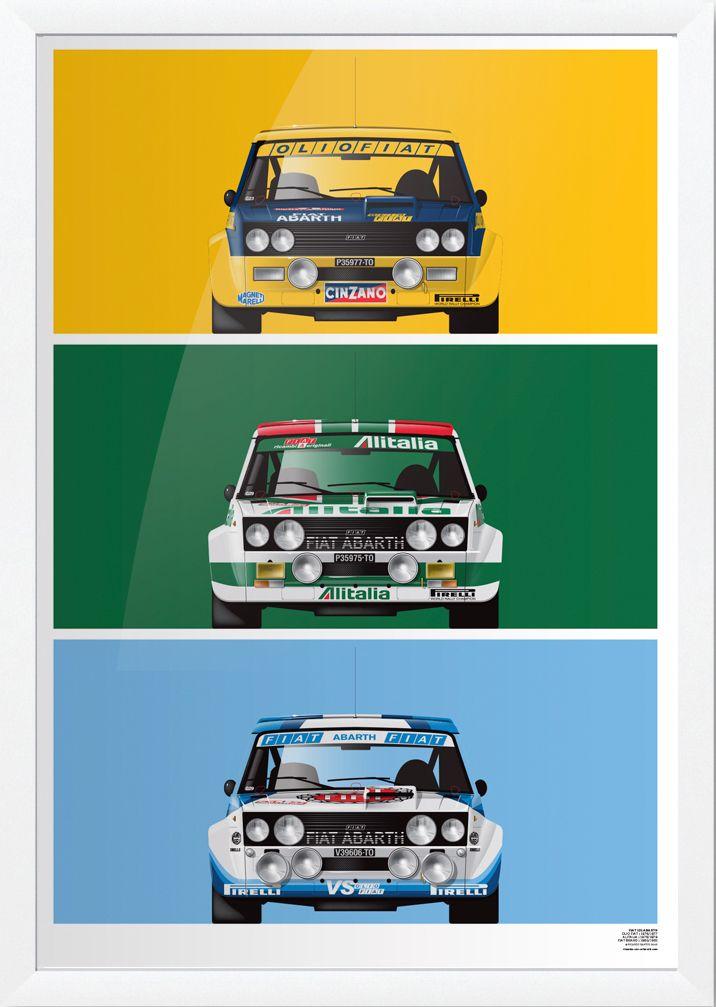 Fiat 131 Abarth Petrolicious Shop Con Immagini Auto Da Corsa