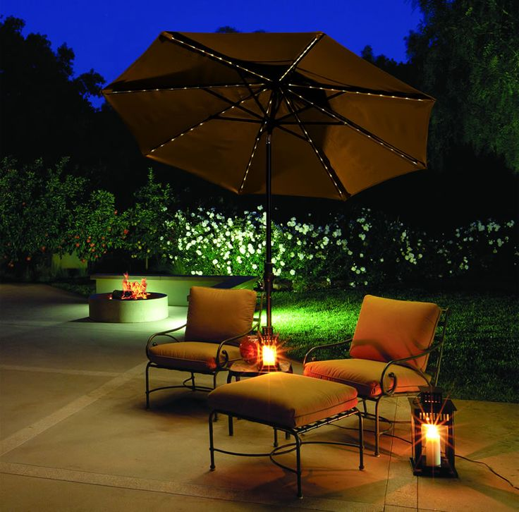 Captivating Starlight Umbrellas Make Your Outdoor Living Area Come To Life At Night!!  Be Sure
