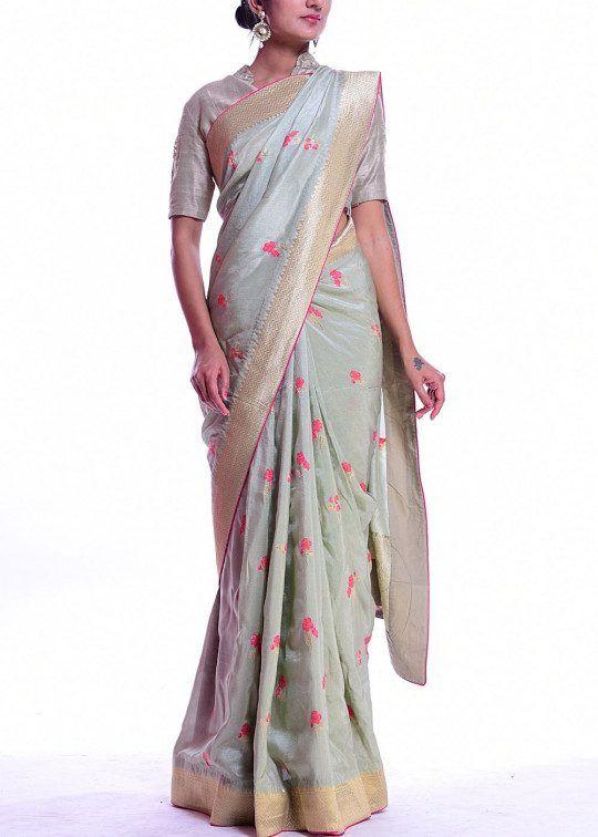 cdbbc416cf Green dola silk saree #saree #sari #sareez #vasansi | Devaya designs ...