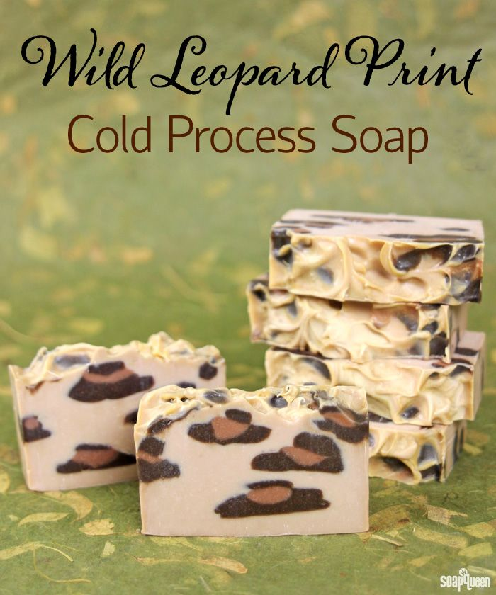 Wild Leopard Print Cold Process Soap Recipe and Tutorial