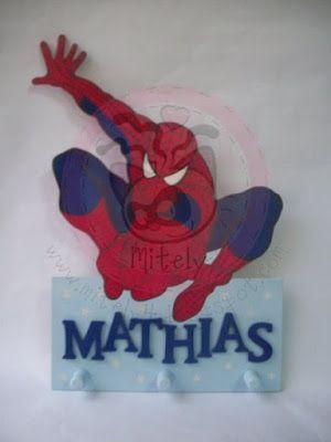 Perchero de Spiderman #mitely #spiderman #babyboy #childgifts