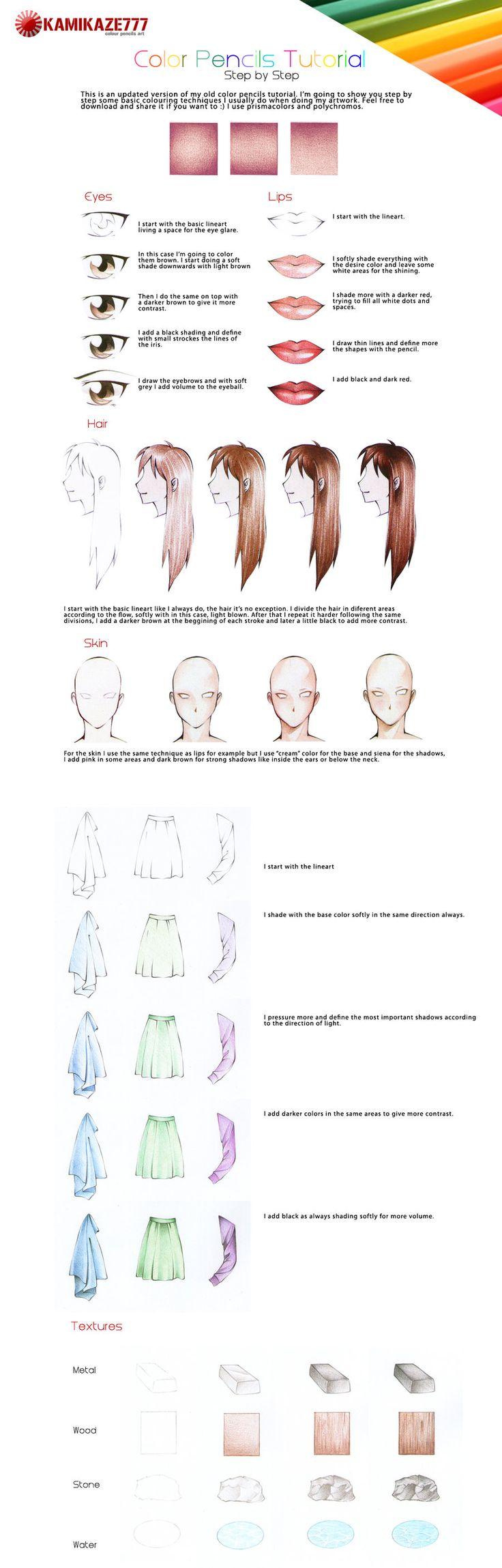 Color Pencils Tutorial Updated by =Caipirina on deviantART