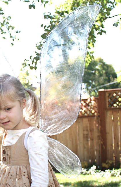 Super EASY iridescent fairy wings....most items can be found at dollar store