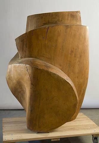 Raoul Hague (American, 1904–1993), 1962 , walnut, h:114.3 x w:96.5x d:96.5 cm