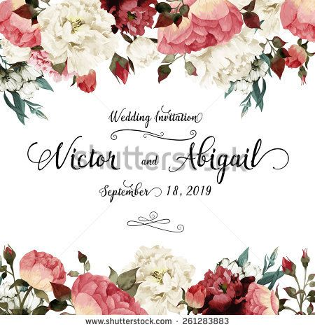 71 best paper wedding images on pinterest invitation cards greeting card with roses watercolor can be used as invitation card for wedding stopboris Images