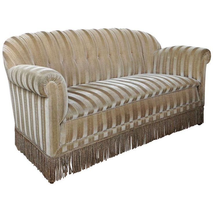 Tufted Sofa Grandma spent most her time sitting on her gray couch in the dining room It had a chenille pattern rather than stripes but what I remember most was the