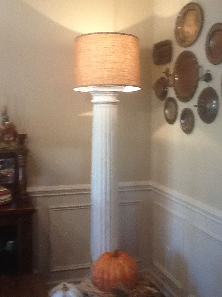 old porch column floor lamp   i just made love it   repurpose   repurpose