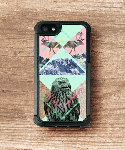 Koomus Paladin Armor case - Snow eagle printed 2 layered case for iphone 5/5S