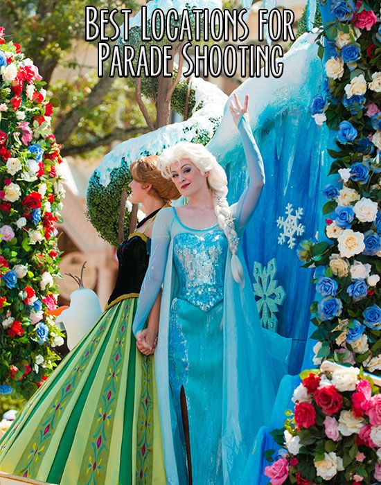 Ideas for great places to capture the best shots @ the Disney World parades