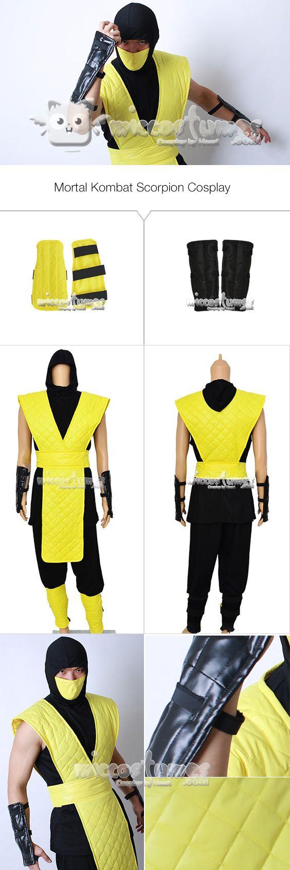 More details of Mortal Kombat Scorpion Cosplay Costume  #miccostumes #cosplay #mortalkombat #scorpion #cosplaycostumes  #hanzohasashi #ninja
