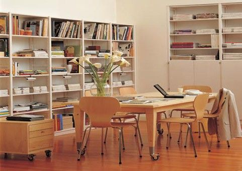 Adjustable in the home.Lundia's classic Adjustable shelving is a stylish and versatile solution for any room in the home. #wood #shelving