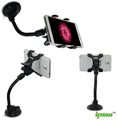nice Ipow Universal Long Arm/neck 360 Degree Rotation Windshield Car Mount Cradle Holder System for Cell Phones Iphone 6/5s/5c/5/4s/4, Ipod Touch, Samsung Galaxy S5/s4/s3 Car Mount, Samsung Galaxy Note, Nokia, Motorola, Blackberry Bold 9900/q10/z10,htc One,/one X Droid Razr, Car Mount for Most Mobile Cell Phones and GPS , Double Clip (Black+red) (Double Clip) Check more at…
