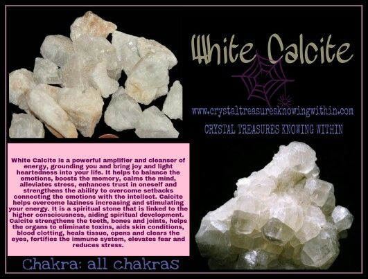 WHITE CALCITE CRYSTAL MEANING www.crystaltreasuresknowingwithin.com