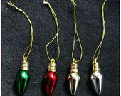 Breloque grosses ampoules guirlande de noël brillante light bulbs charms christmas x1 : Fêtes par lilycherry