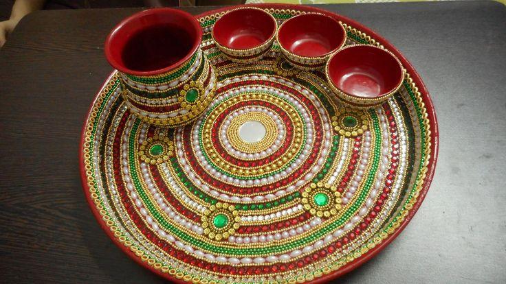 Thali Decoration for Raksha Bandhan -Saree Exotica