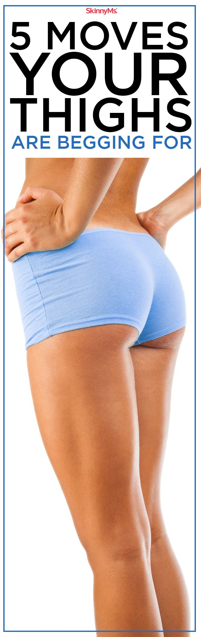 This slimming thigh workout targets leg muscles and burns tons of calories in a short period of time. Get your legs pumping with these 5 Moves Your Thighs Are Begging For!