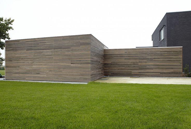 tuinhuizen met scheidingsmuur in ceder en padoek | Bogarden