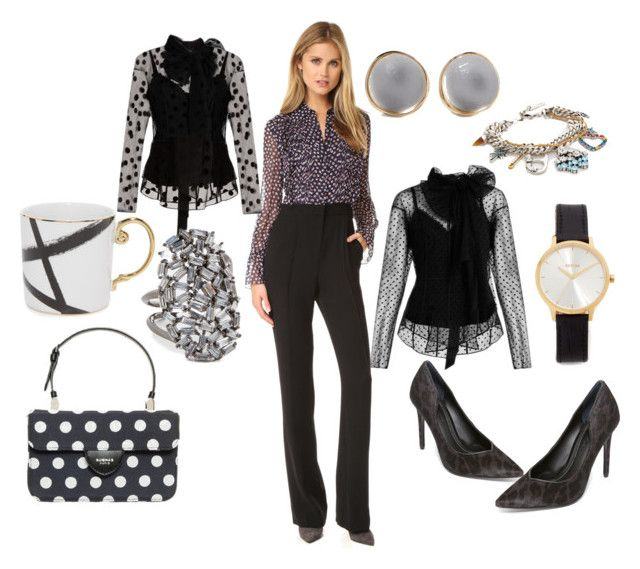 """""""Informal Attire"""" by hillarymaguire ❤ liked on Polyvore featuring Diane Von Furstenberg, Marc Jacobs, Alexis Bittar, Theia Jewelry, Rochas, Kendall + Kylie and Nixon"""