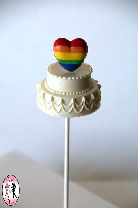 wedding cake cake pop