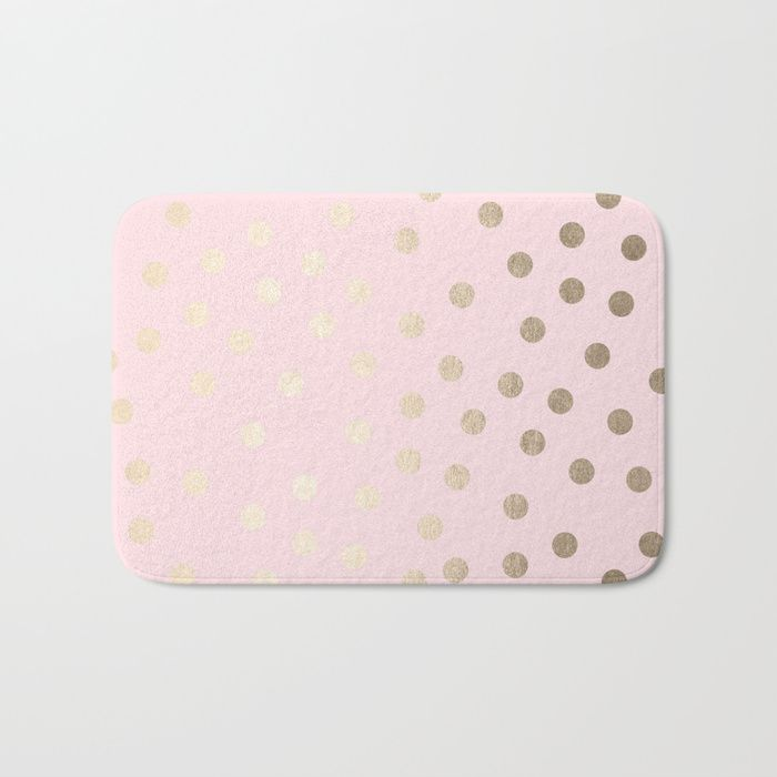 Buy Dots White Gold Sands on Flamingo Pink Bath Mat by followmeinstead. Worldwide shipping available at Society6.com. Just one of millions of high quality products available.
