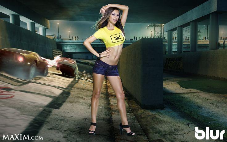 Blur Game Maxim Girl HD Desktop Wallpaper