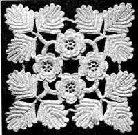 leaf and rose Irish crochet lace!