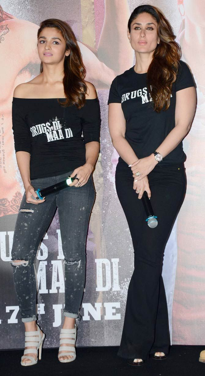 Alia Bhatt has voiced her admiration for 'Udta Punjab' co-star Kareena Kapoor Khan on several occasions. Pic/Yogen Shah : Photos: Shahid, Alia, Kareena at 'Udta Punjab' trailer launch