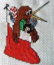 KIWI in Christmas Stocking Cross Stitch Pattern by KraftyKiwis