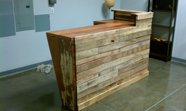 Built for Rustica Kollective.  Transaction counter for store specializing in hand-made merch and fair-trade crafts from around the world.  Built using reclaimed floor joists, pallets and steel.  #reclaimedtransactioncounter #ReViveIndustries