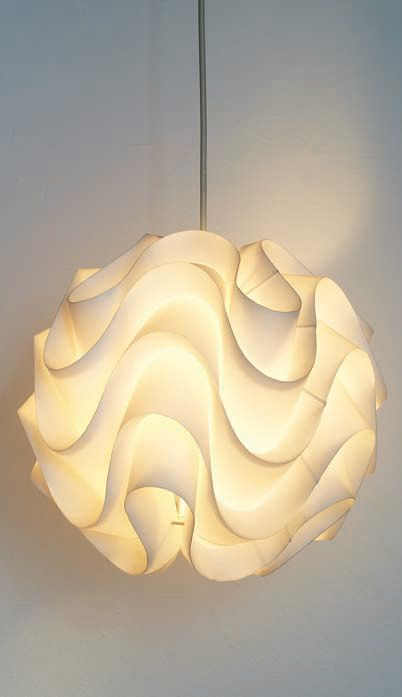 The beautiful sinus lamp by le klint paper art design