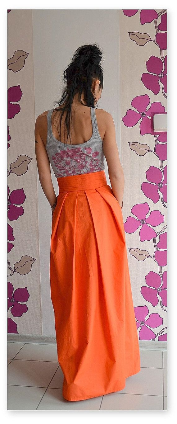 25  best ideas about Orange maxi skirts on Pinterest | Orange ...