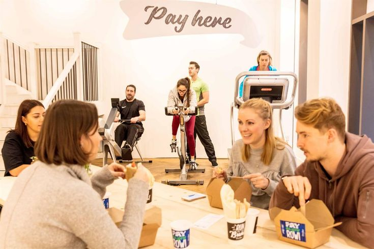 """•David Lloyd Clubs has launched the world's first café that takes exercise as payment, to encourage London office workers to step away from their desks and be more active at lunchtime. •""""Run for your bun"""" asks customers to take part in a six-minute micro workout, in exchange for one of four choices on their menu."""