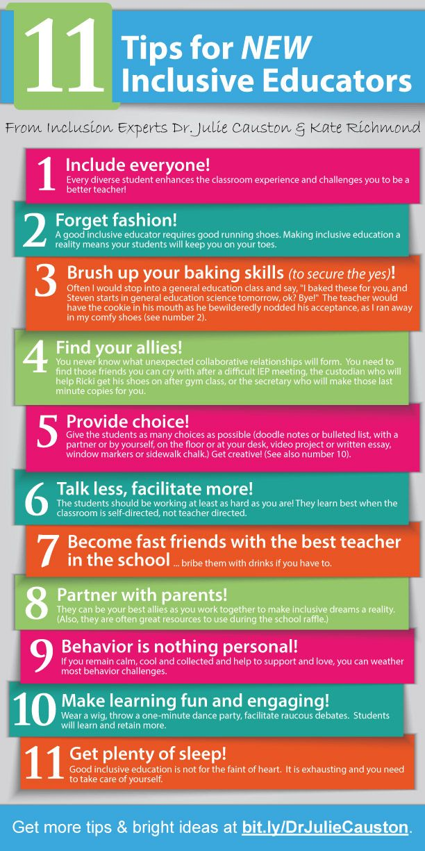11 tips for new inclusive educators! This will make teachers and students…