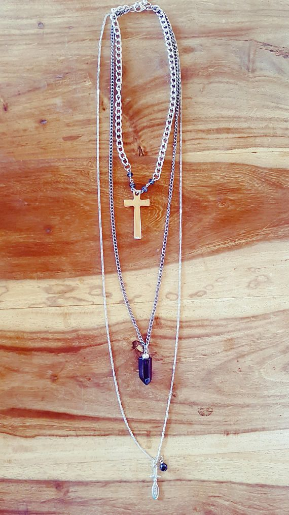 Check out this item in my Etsy shop https://www.etsy.com/au/listing/524991901/crosses-necklace
