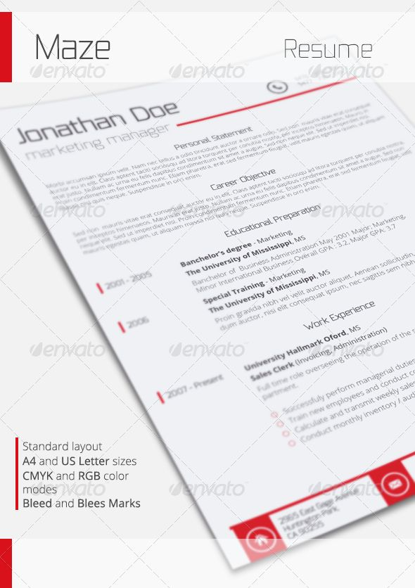 Standard Resume Font 1749 Best Minimal Resume Images On Pinterest  Print Templates .