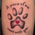 47 Stylish Paw Print Tattoo Designs Ideas You Must Love