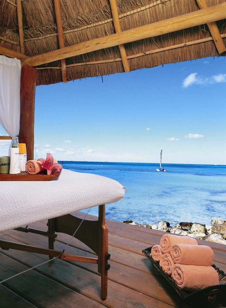 Relax away into your spa day near a calm beach. Treat yourself to a massage or many other services while soaking up the beautiful views.