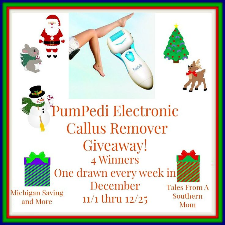PumiPed Electronic Callous Remover Giveaway 12/25 ~ Tales From A Southern Mom