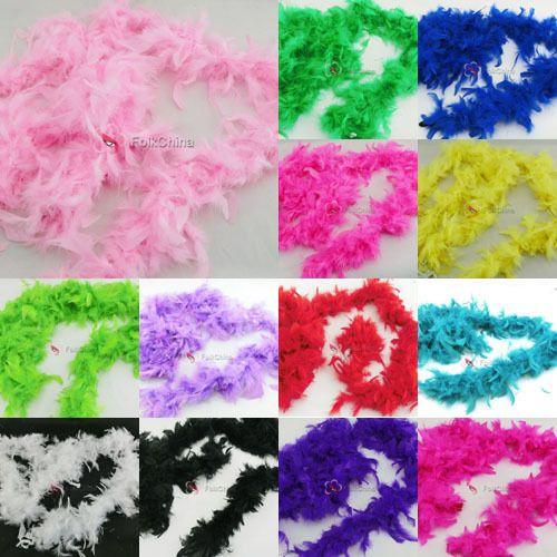 1.8M Feather Boa Hen Night Party Burlesque Fancy Dress Boas Various Colors