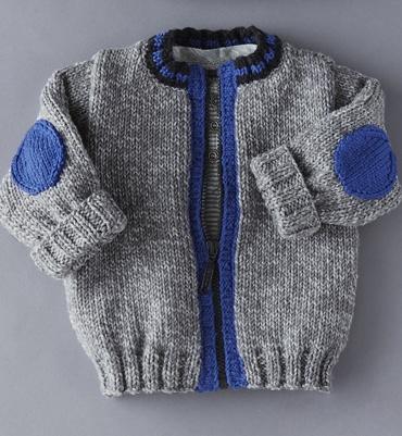 Modèle blouson à coudières - Modèles tricot layette - Phildar