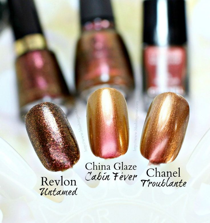 Chanel Troublante Le Vernis Dupe? + China Glaze The Great Outdoors Swatches + GIVEAWAY! - Blushing Noir