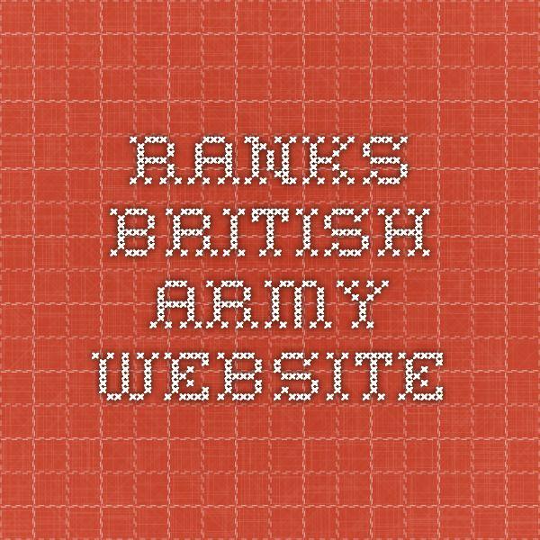 Ranks - British Army Website