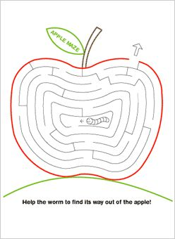 Apple Maze - - Pinned by @PediaStaff – Please Visit  ht.ly/63sNt for all our pediatric therapy pins