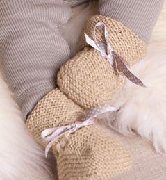 Modèle Chaussons bébé 100% laine
